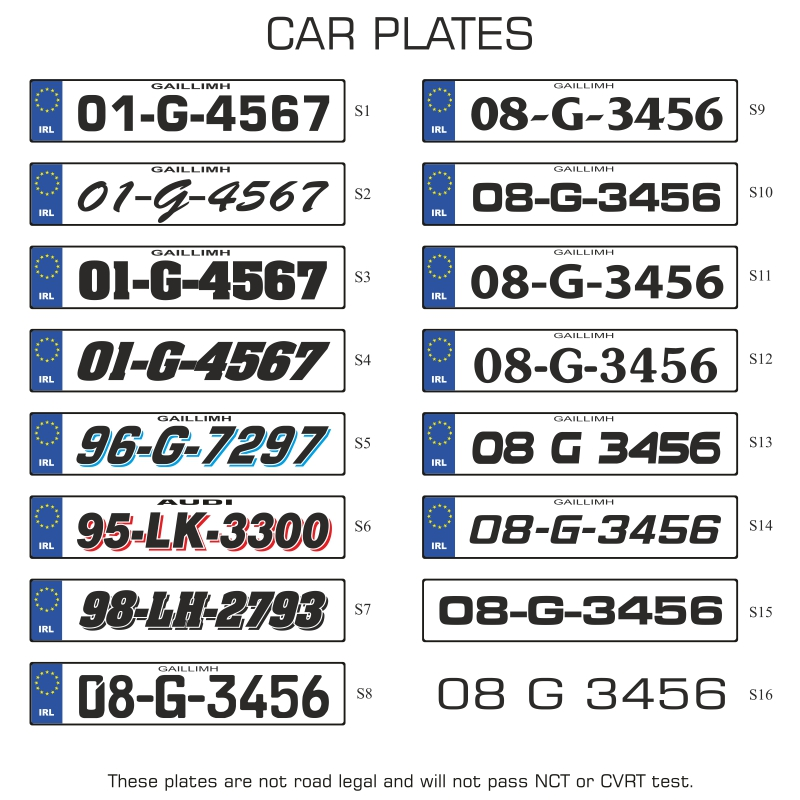 Signs Amp Systems Number Plates